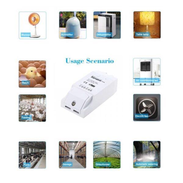 Sonoff TH16 TH10 Smart Wifi Switch Monitoring Temperature 1 - S-Deal.eu & Sonoff - oнлайн магазин