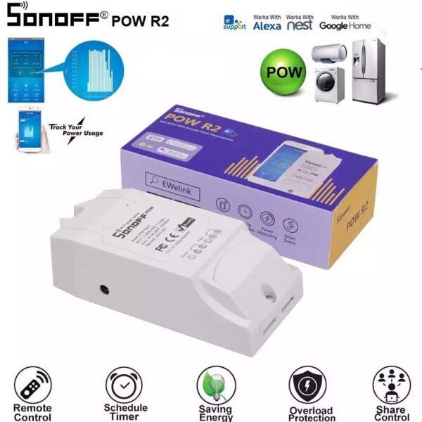Sonoff – POW R2 прекъсвач – измерване на консумираната енергия 16А/3500W - sonoff-wifi-pow-r2-smart-home-16a-3500w-power-monitoring-1
