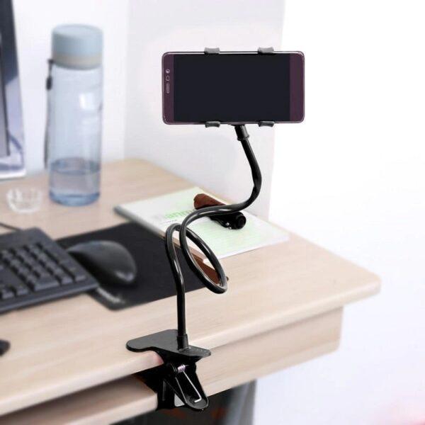 Универсална стойка за телефон с двойна щипка – HSU 360* на завъртане