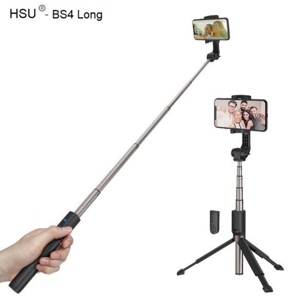 Селфи стик 3 в 1 HSU Long – до 88 см + опция трипод и Bluetooth дистанционно | iPhone /Android - HSU-3-in-1-Wireless-Bluetooth-Selfie-Stick-Mini-Tripod-long_004