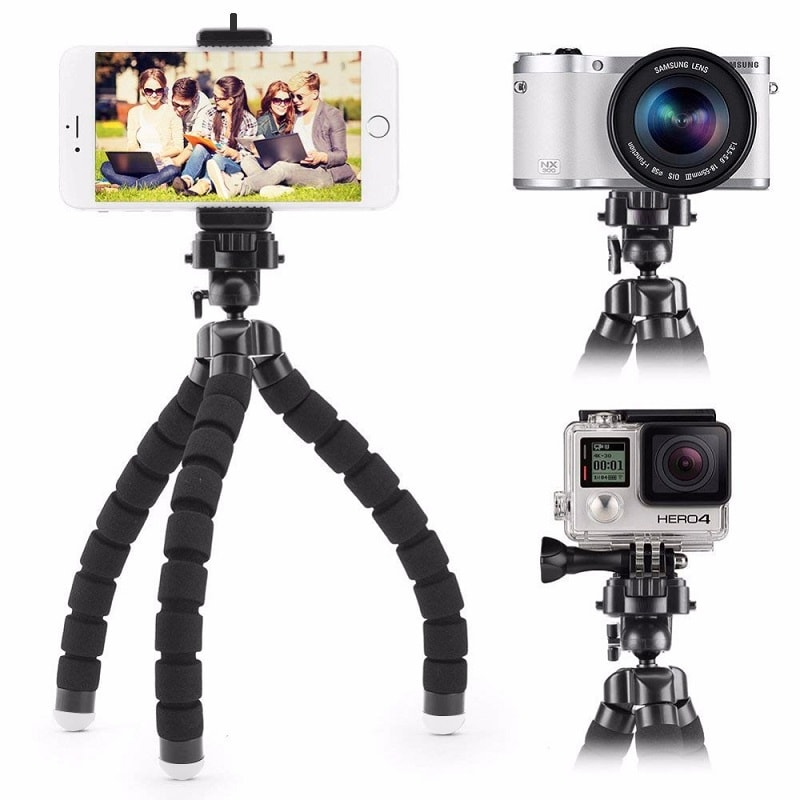 HSU Sport трипод - 20 см за смартфон и фотоапарат - HSU-flexible-octopus-tripod-for-phone-17-cm_04