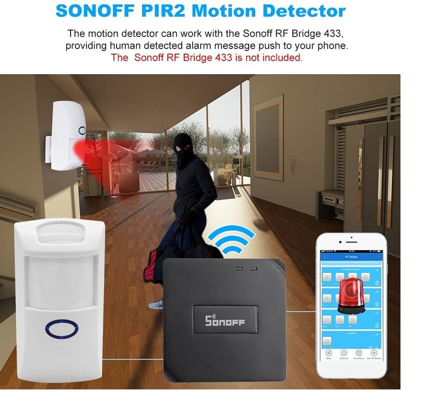 Sonoff PIR2 433Mhz RF PIR Motion Sensor Alarm 7 - S-Deal.eu & Sonoff - oнлайн магазин