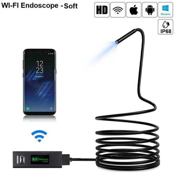 WIFI Ендоскопска камера SOFT вариант – HD 1200P – съвместим с Android | IOS Apple – IP68