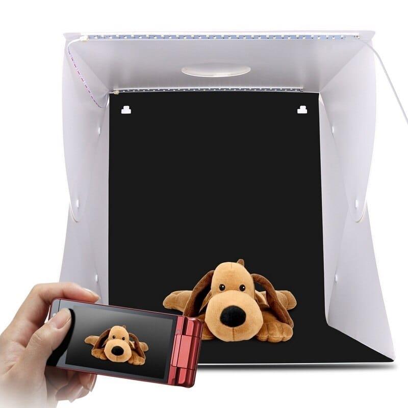 Фотографска кутия 20 | 30 | 40 см за предметна фотография с лед осветление -portable photo box studio 20-30-40 cm for product photography with Led lighting