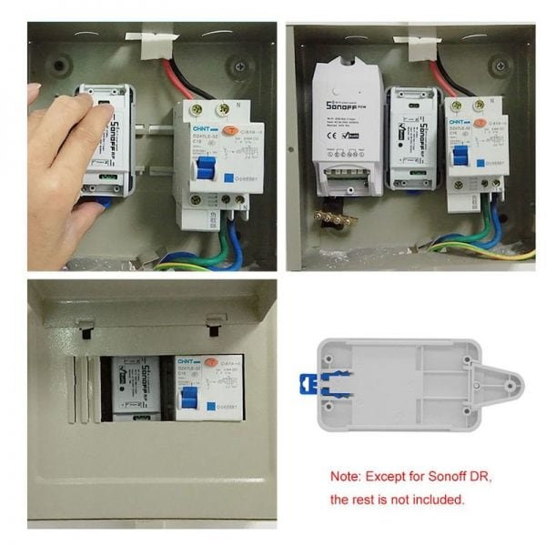 smart switch dr din tray rail case holder mounted 01 - S-Deal.eu & Sonoff - oнлайн магазин