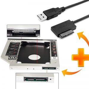 Кабел SATA 7+6 13Pin към USB - за Caddy, CD-DVD (лаптоп) - SATA 13 Pin cable to USB + LED for Laptop Caddy CD-DVD_09