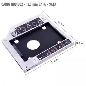 Caddy Кутия 12.7mm за Втори Хард Диск HDD /SSD – 12.7mm - Universal-2nd-HDD-Caddy-12-7mm-SATA-3-box_2