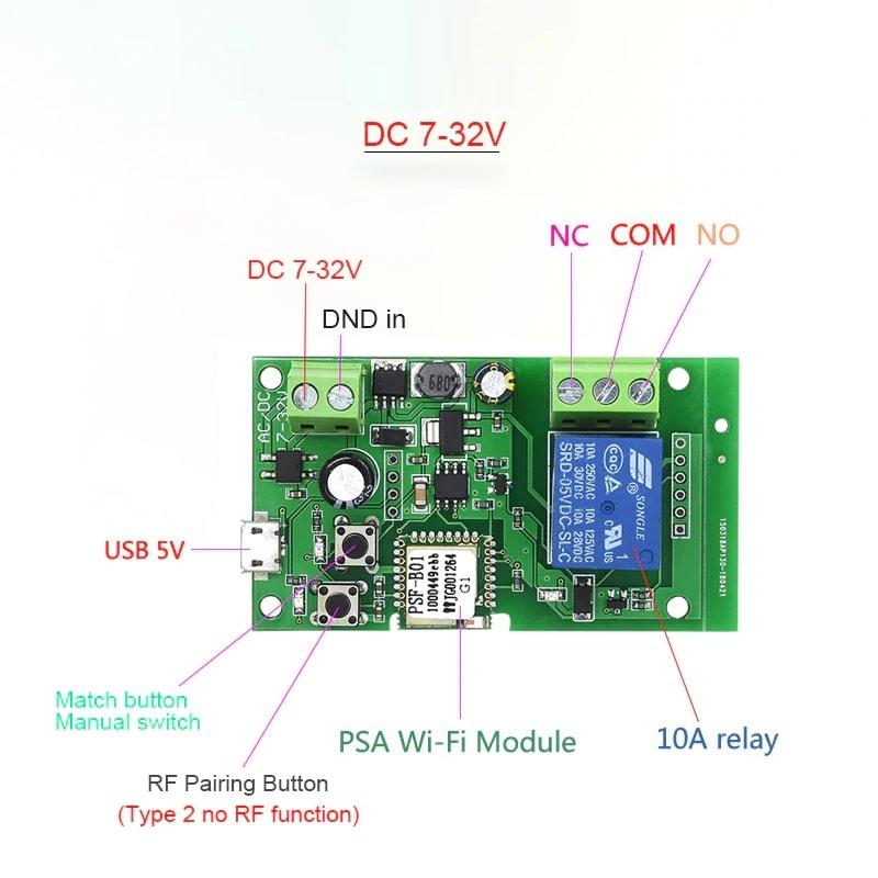 ewelink wifi switch dc 5v 12v 24v 32v inching self locking wireless relay module 01 - S-Deal.eu & Sonoff - oнлайн магазин