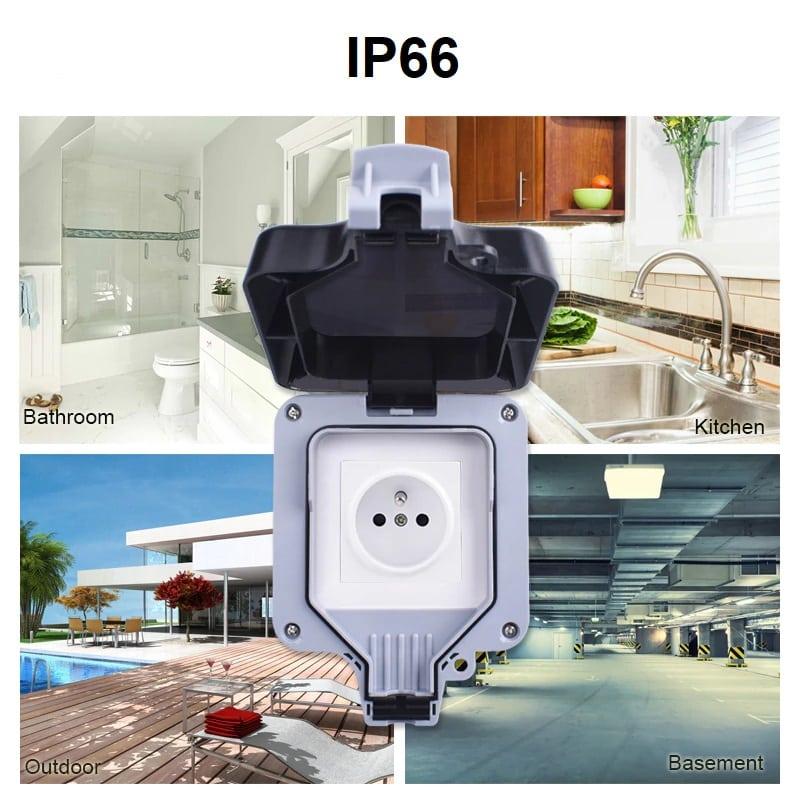 Smart Home - IP66 водоустойчива кутия за защита на открит външен контакт | ключ