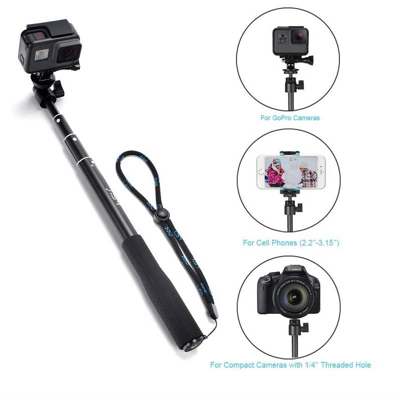 Professional SELF Stick HSU 5 in 1 Remote to 92 cm tripod waterproof GoPro iPhone Android 5 1 - S-Deal.eu & Sonoff - oнлайн магазин