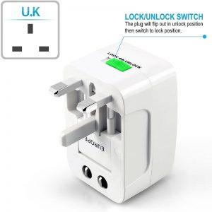All in one EU UK US AU Universal Travel adapter 2 USB 2 - S-Deal.eu & Sonoff - oнлайн магазин
