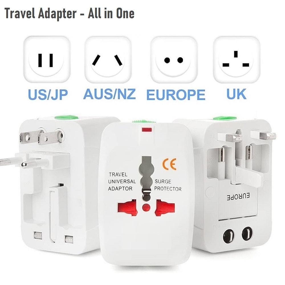All in one EU UK US AU Universal Travel adapter 2 USB 5 - S-Deal.eu & Sonoff - oнлайн магазин