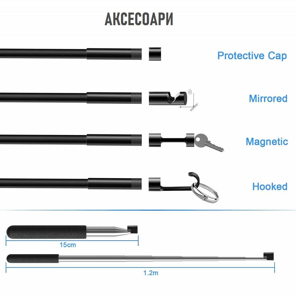 wireless endoscope ip68 waterproof wifi borescope inspection camera hard 5 5mm 2mp hd 8 - S-Deal.eu & Sonoff - oнлайн магазин