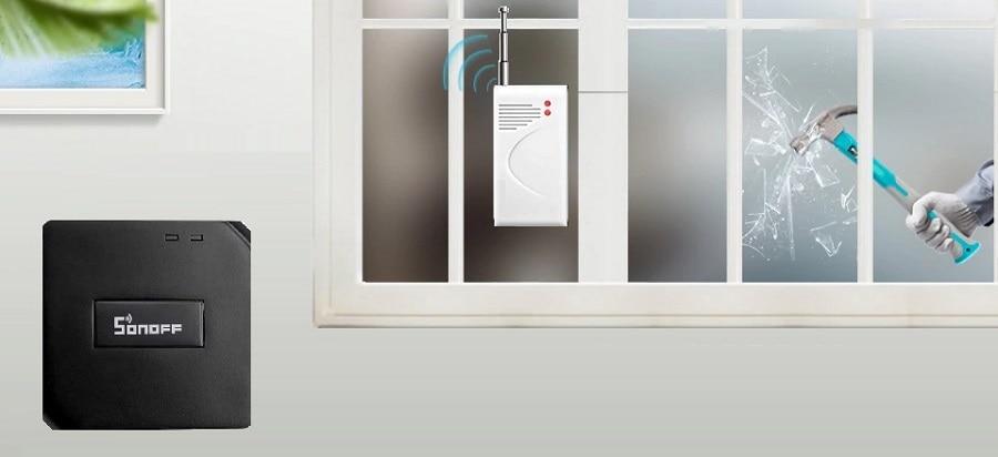 433MHz Wireless Glass Vibration Breakage Sensor Detector work with sonoff bridge 03 - S-Deal.eu & Sonoff - oнлайн магазин