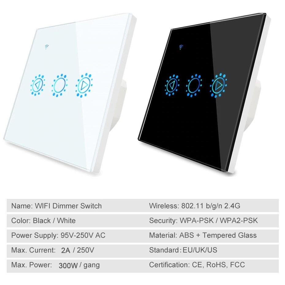 EWELINK Dimmer Switch WiFi Smart Light Touch Switch Dimming Compatible Alexa Google Home 7 - S-Deal.eu & Sonoff - oнлайн магазин