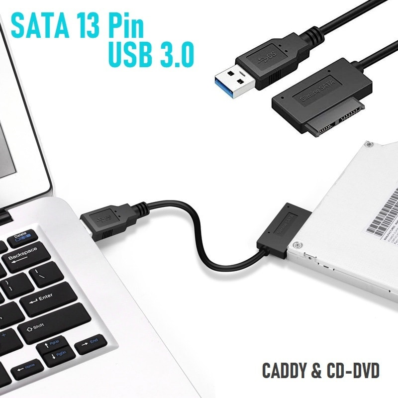 SATA-13-Pin-cable-to-USB-3.0-for-Laptop-Caddy-CD-DVD