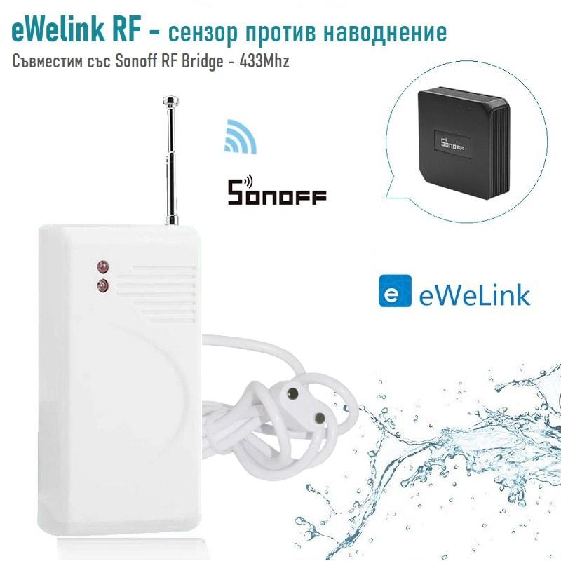 eWelink RF сензор   датчик против наводнение RF 433MHz + антена модел 1 - eWelink-Water-Leak-Sensor-433MHz-Wireless-RF-detector-works-with-sonoff-RF-bridge-00