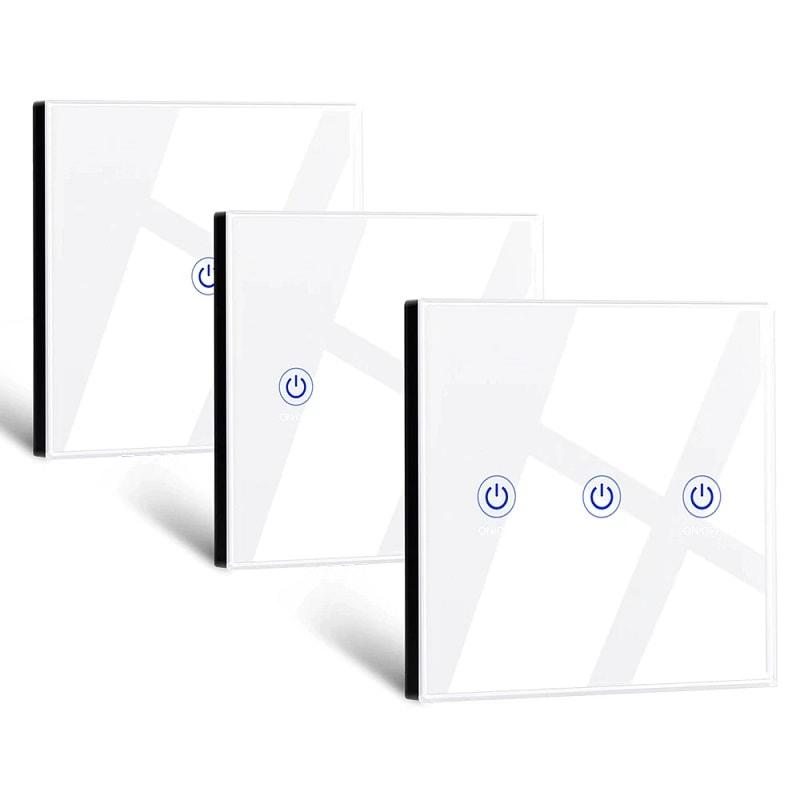 touch glass panel button wireless remote control 433mhz 1 2 3 gang 02 - S-Deal.eu & Sonoff - oнлайн магазин