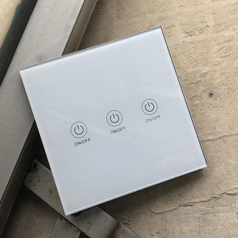 touch glass panel button wireless remote control 433mhz 1 2 3 gang 06 - S-Deal.eu & Sonoff - oнлайн магазин