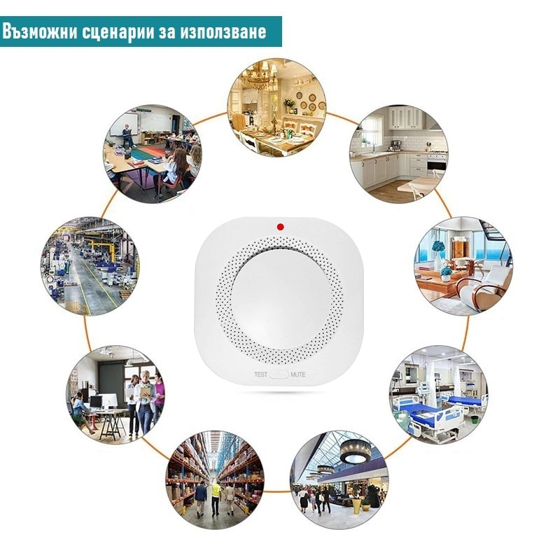 RF Wireless Smoke Detector Fire Security Alarm Protection 433MHz less false alarms 8 - S-Deal.eu & Sonoff - oнлайн магазин