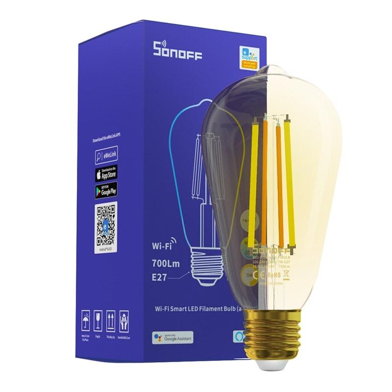 SONOFF B02 F ST64 Smart Wi Fi LED Filament Bulb Vintage 05 - S-Deal.eu & Sonoff - oнлайн магазин