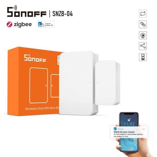 SONOFF SNZB-04 - ZigBee сензор за врати и прозорци - SONOFF SNZB-04-ZigBee Wireless Door-Window Sensor