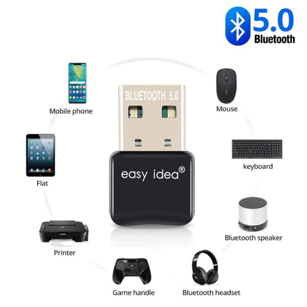 USB Bluetooth Adapters BT 5.0 | V5 - USB-Bluetooth-Adapters-BT-5-0-USB-Bluetooth-dongle-5-0